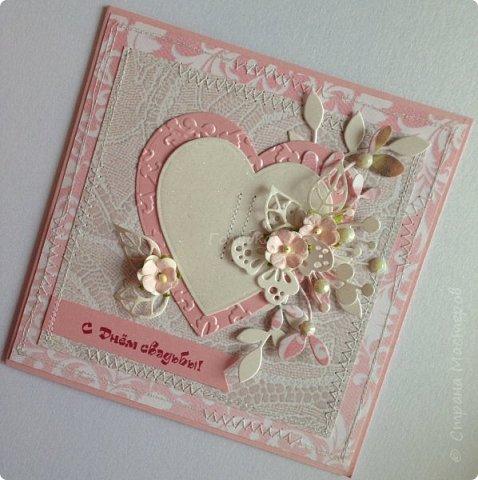 Все чаще я стала делать свадебные открытки:)  фото 9