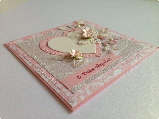 Все чаще я стала делать свадебные открытки:)  фото 11