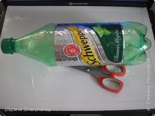 Мастер-класс Поделка изделие Украшение Новый год Цумами Канзаши Делать было нечего сделала корону Бутылки пластиковые Ленты фото 3