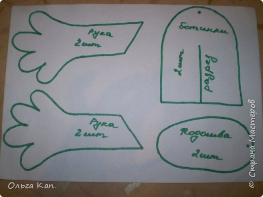 Для работы потребуется: - бумага - карандаш - ножницы - иголка - нитки - ткань (черная, бежевая, белая, сиреневая, синяя, оранжевая, голубая, желтая, розовая, красная) - атласная лента (шириною 5 см, 2 см, 0,5 см) - пуговицы белые 2 шт - желтое кольцо - синтепон фото 2