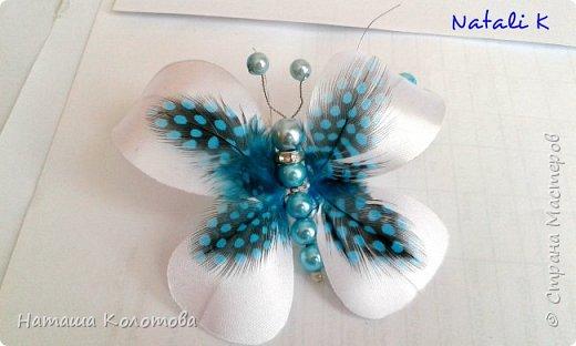 Предлагаю мой мастер-класс по изготовлению бабочки, получается очень красиво, можно украсить ободок, заколку. фото 14