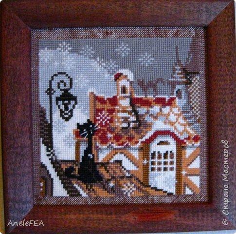 Вышивала крестом несколько лет назад в подарок, теперь смотрю - красиво))) фото 2