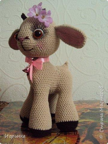 Здравствуйте, дорогие мастера и мастерицы! Сегодня на Ваш суд представляю целый новогодний десант, а первой - эту крохотулю, цветочную овечку из онлайна Solka(Олечки) с форума амигуруми. Мне она безумно нравится - спасибо огромное Оленьке за это маленькое чудо! фото 6