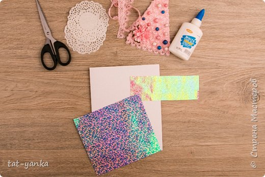 Скрапбукинг Новый год Новогодний мастер-класс нарядная скрап-открытка своими руками Бумага Бусины Кружево фото 12