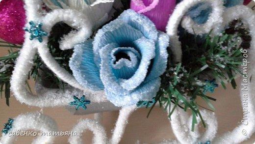 Мастер-класс Новый год Моделирование конструирование Заснеженные сани МК Нитки Проволока фото 12