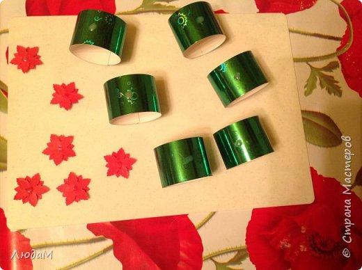 Декор предметов Мастер-класс Новый год Рождество Бумагопластика Кольца для салфеток+ маленький МК Бумага фото 9