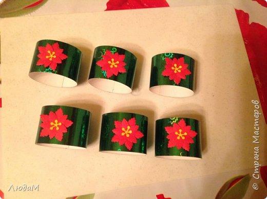 Декор предметов Мастер-класс Новый год Рождество Бумагопластика Кольца для салфеток+ маленький МК Бумага фото 10