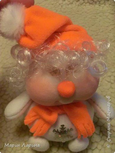 Игрушка Интерьер Мастер-класс Новый год Шитьё МК снеговичков Капрон фото 47