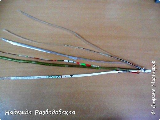 Мастер-класс. Спиральное плетение вокруг каркаса.( Из соломки, газетных трубочек, картонных полосок) фото 34