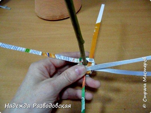 Мастер-класс. Спиральное плетение вокруг каркаса.( Из соломки, газетных трубочек, картонных полосок) фото 35