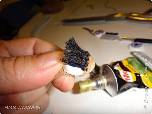 Добрый день, дорогие гости! Хочу поделиться с вам своей творческой находкой: изготовление ресничек для кукол фото 11