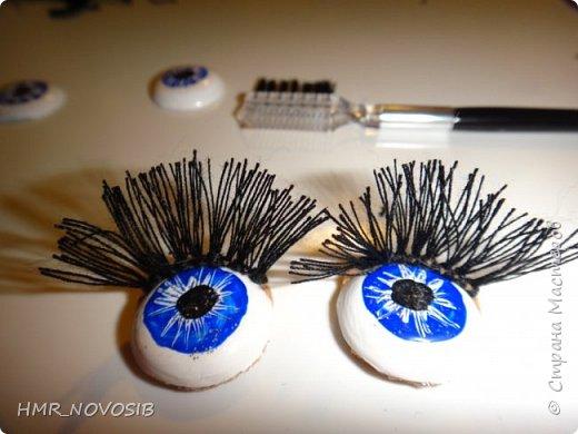 Добрый день, дорогие гости! Хочу поделиться с вам своей творческой находкой: изготовление ресничек для кукол фото 13
