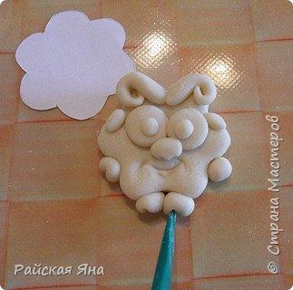 Мастер-класс Новый год Лепка Барашек Гуашь Клей Магниты Тесто соленое фото 7