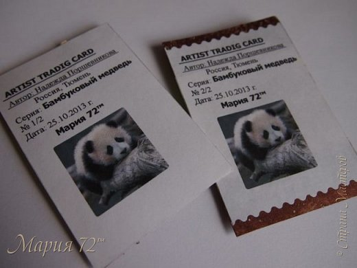 """АТС.мини-Серия""""Бамбуковый медведь"""" родилась у мамы еще в том году. №1/2-____ №2/2-Мария 72™ фото 4"""