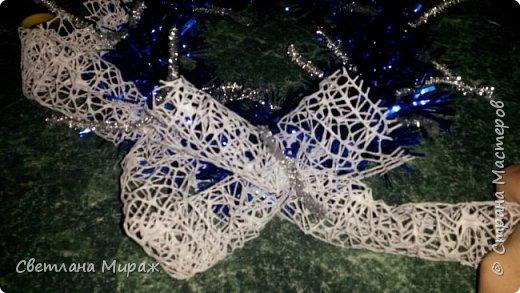 Мастер-класс Новый год Рождество Ассамбляж Моделирование конструирование Венок морозный узор Материал оберточный фото 14