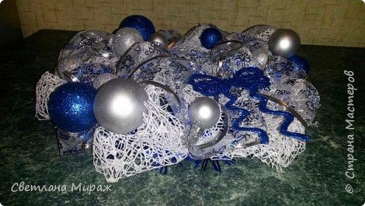 Мастер-класс Новый год Рождество Ассамбляж Моделирование конструирование Венок морозный узор Материал оберточный фото 21