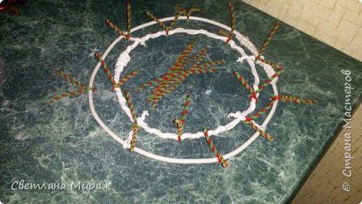 Мастер-класс Новый год Рождество Ассамбляж Моделирование конструирование Венок морозный узор Материал оберточный фото 8