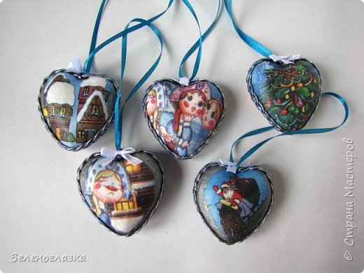 Пенопластовые сердечки превратились в игрушки