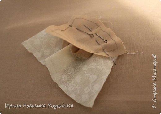 Мастер-класс Новый год Шитьё Новогодняя мышка МК по изготовлению Краска Нитки Сутаж тесьма шнур Ткань фото 9