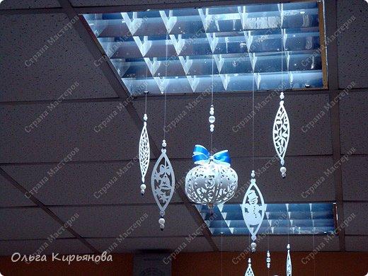Интерьер Мастер-класс Новый год Рождество Вырезание Пора украшать школу Бумага Бусины Ленты Нитки фото 19