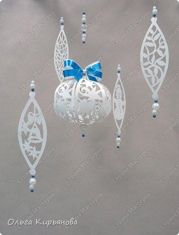 Интерьер Мастер-класс Новый год Рождество Вырезание Пора украшать школу Бумага Бусины Ленты Нитки фото 1