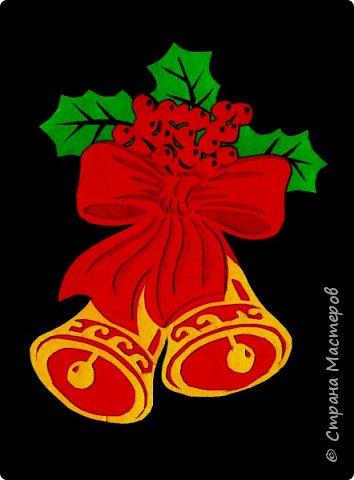 Новый год - самый яркий из всех праздников в году. А вот новогодние вытынанки делают из бумаги одного цвета, обычно белого, иногда добавляя фон другого цвета. Но мне захотелось сделать их яркими, новогодними. За основу взял обычные вытынанки из интернета. Новогодние вытынанки. фото 1