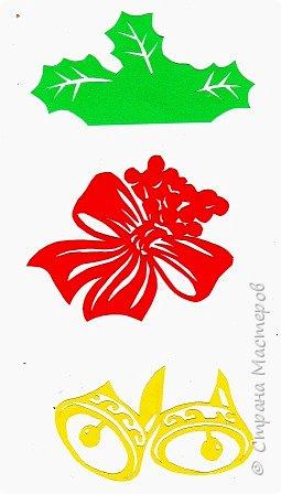 Новый год - самый яркий из всех праздников в году. А вот новогодние вытынанки делают из бумаги одного цвета, обычно белого, иногда добавляя фон другого цвета. Но мне захотелось сделать их яркими, новогодними. За основу взял обычные вытынанки из интернета. Новогодние вытынанки. фото 3