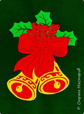 Новый год - самый яркий из всех праздников в году. А вот новогодние вытынанки делают из бумаги одного цвета, обычно белого, иногда добавляя фон другого цвета. Но мне захотелось сделать их яркими, новогодними. За основу взял обычные вытынанки из интернета. Новогодние вытынанки. фото 4
