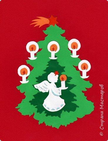 Новый год - самый яркий из всех праздников в году. А вот новогодние вытынанки делают из бумаги одного цвета, обычно белого, иногда добавляя фон другого цвета. Но мне захотелось сделать их яркими, новогодними. За основу взял обычные вытынанки из интернета. Новогодние вытынанки. фото 7