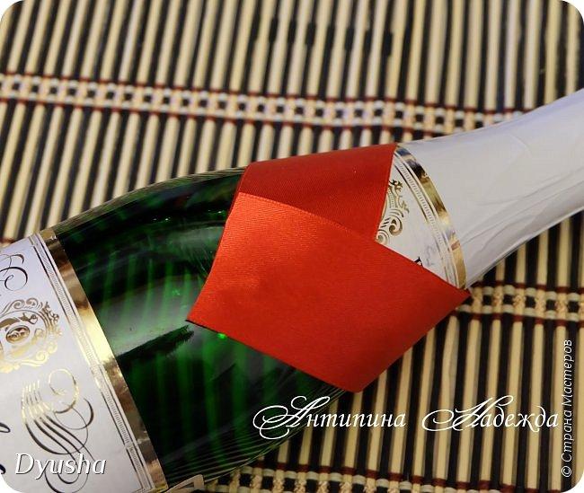 Мастер-класс Свит-дизайн Новый год Моделирование конструирование МК Основа для создания Декора бутылки Основа украшалки  фото 7