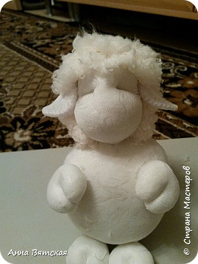 Игрушка Мастер-класс Новый год Моделирование конструирование Шитьё Овечки всякие нужны  овечки всякие важны  часть 2 Капрон Мех Нитки фото 25