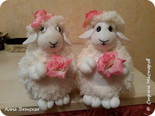 Игрушка Мастер-класс Новый год Моделирование конструирование Шитьё Овечки всякие нужны  овечки всякие важны  часть 2 Капрон Мех Нитки фото 2