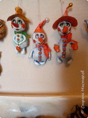Игрушка Новый год Шитьё новогодние игрушки- грунтованный текстиль снеговички совы зверушки елочки  козочки барашки Ткань фото 1