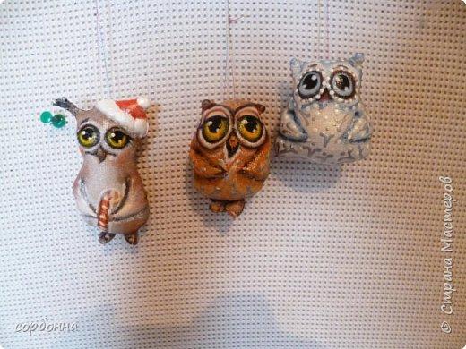 Игрушка Новый год Шитьё новогодние игрушки- грунтованный текстиль снеговички совы зверушки елочки  козочки барашки Ткань фото 2