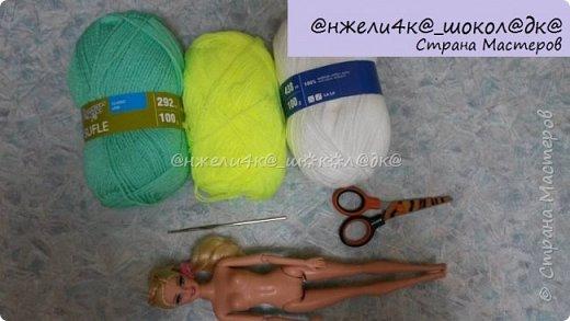 """Привет! Вот второй МК из серии """"Повязушки для кукол""""! Сегодня я поделюсь с вами как связать модный комбинезон для барби. Кстати, вот первый МК по платью для Монстер Хай и Эвер Афтер Хай: http://stranamasterov.ru/node/845227 фото 2"""