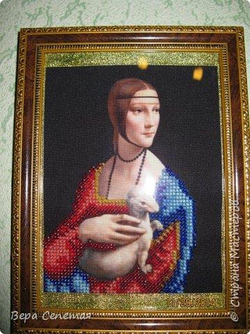 Вышивка бисером «Дама с горностаем» Леонардо да Винчи