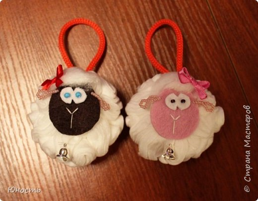 Сегодня у нас снова овечки! Шарики на елку. фото 20