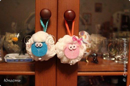 Сегодня у нас снова овечки! Шарики на елку. фото 28