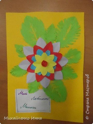 День Матери недавно празднуют у нас в России.  Очень трогательный праздник. В этом году для меня этот праздник был особенным. Я помогала детям, оставшимся без попечения родителей делать открытки своим мамам...приёмным мамам. фото 3