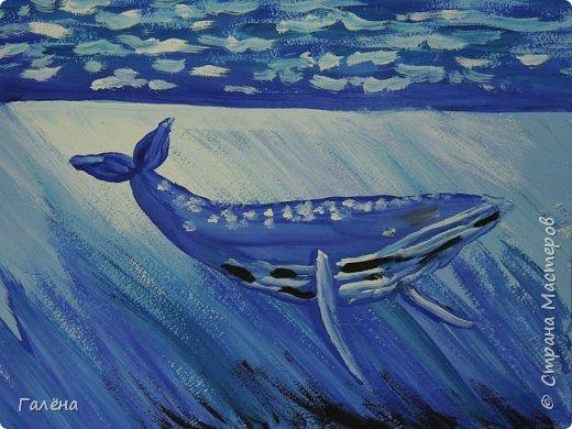 С началом нового учебного года продолжились мои уроки ИЗО в Детском Центре КАПИТАН.За три месяца собралась папочка новых работ.Делюсь ими с вами,надеюсь кому-нибудь они пригодятся в профессиональной и творческой деятельности.  Синий кит.Гуашь. фото 1
