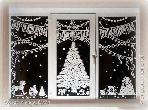 Новогодние украшения своими руками на окна из бумаги