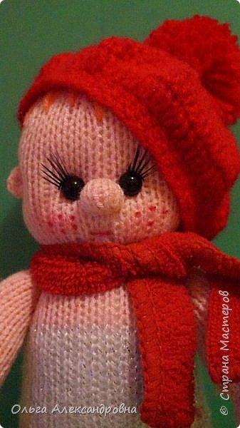Игрушка Мастер-класс День рождения Новый год Вязание крючком Вязание спицами Вяжем пупса Нитки Пряжа фото 13