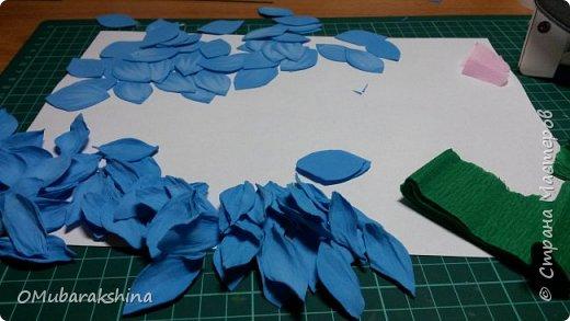 Мастер-класс Мастер класс - Подснежники пролески среди зимы   Клей Пастель Проволока Фоамиран фом фото 7