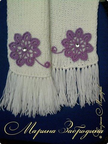 Обычный шарфик. Вязала давно его, в подарок своей свекрови на Новый 2011 год