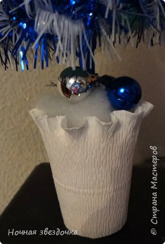 Привет всем жителям страны мастеров! Вот решила выставить на всеобщий суд свою новогоднюю елочку. Бело-синяя гамма цветов напоминает зиму(не правда ли?). фото 3