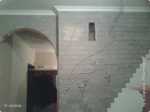 стена на кухне из папье маше фото 6