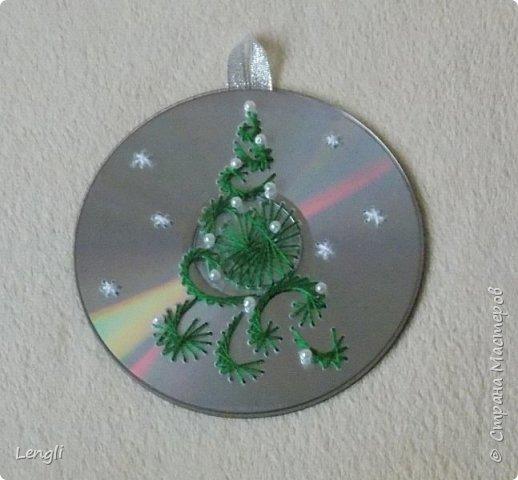 Изонить Новогодняя елка на