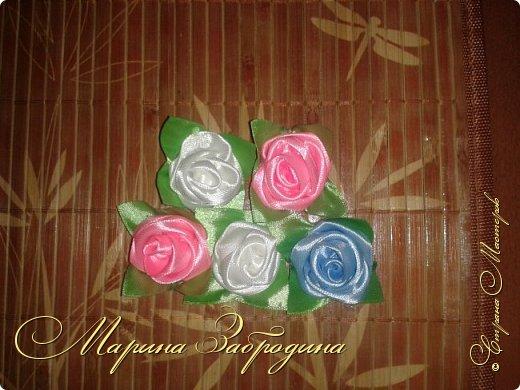 Розы из атласных лет 2 фото 3