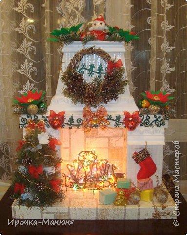 Мастер-класс Поделка изделие Новый год Рождество Моделирование конструирование Камин-основа для любого оформления  фото 13