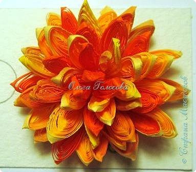 Вот такие пушистые хризантемы я делала для юбилейной открытки для мамы. http://stranamasterov.ru/node/836138 Идею мастер-класса подсказала Валентина Петровна. Возможно кому-то еще пригодится. фото 7